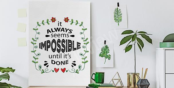 Motivating canvas print