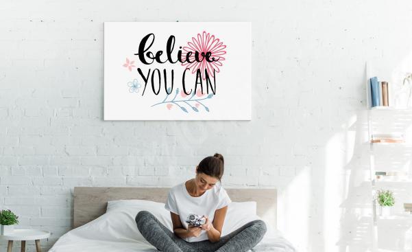 Motivational bedroom canvas print