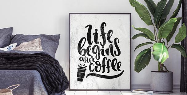 Motivational bedroom poster