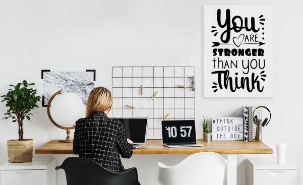 Motivational office canvas print