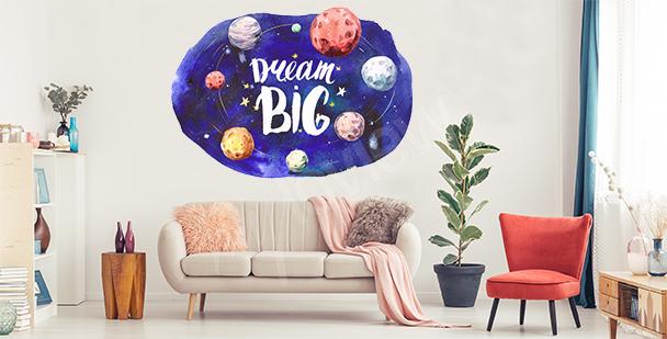 Motivational planets sticker