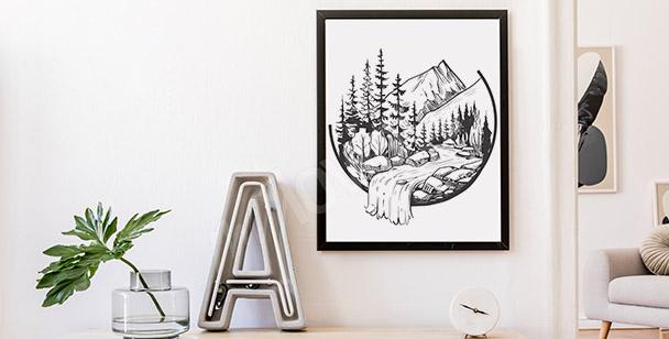 Mountain brook poster