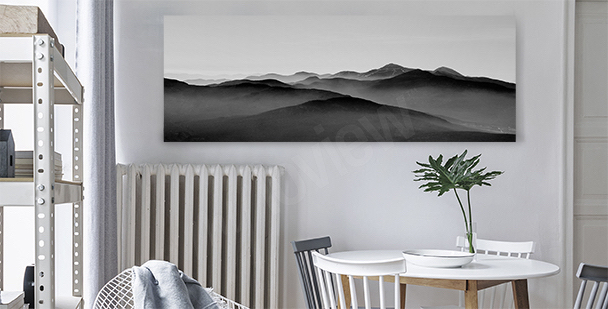 Mountain canvas print for the dining room