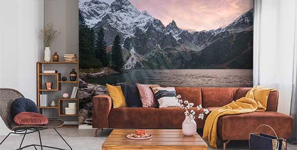 Mountain lake wall mural