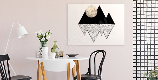 Mountain moon canvas print