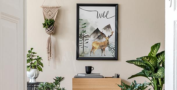 Mountain motif poster