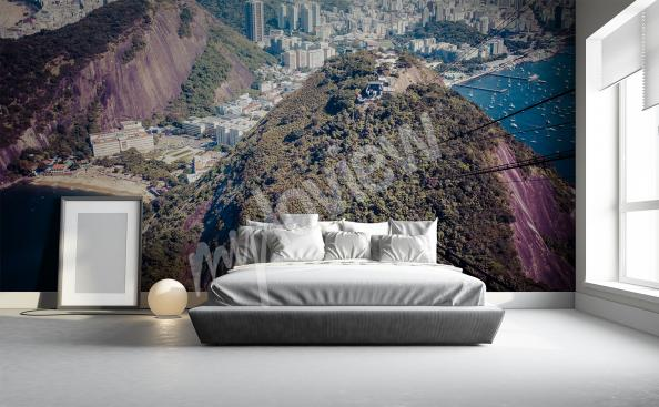 Mountain wall mural for living room