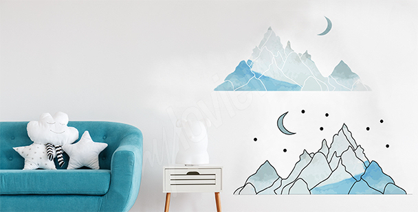 Mountains sticker for a child's room