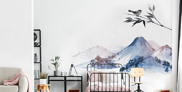 Mountains sticker for the bedroom