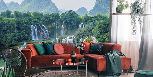 Mountainscape wall mural