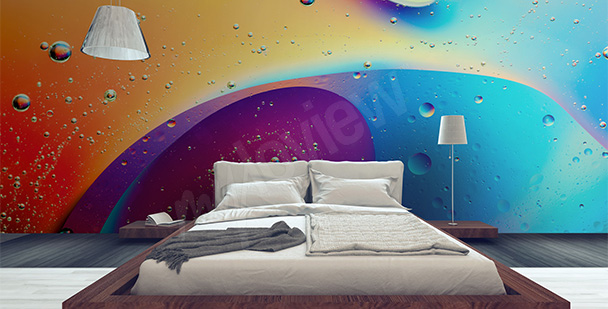 Multicolor abstraction mural
