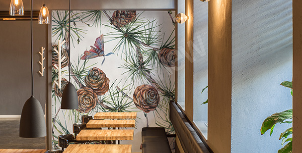 Mural for a restaurant: cones