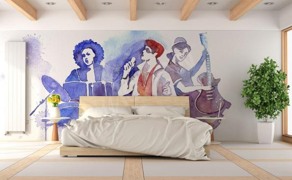 Music bedroom mural