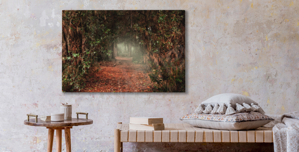 Mysterious greenery canvas print