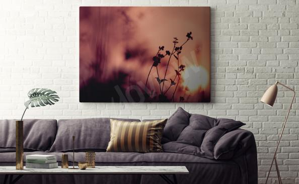 Natural canvas print for living room