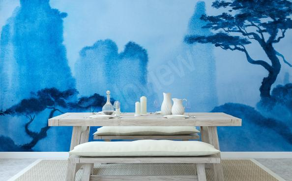 Natural landscape wall mural