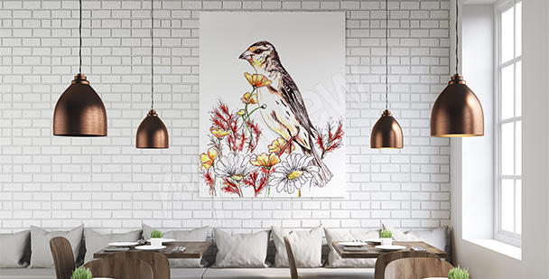 Nature canvas print bird