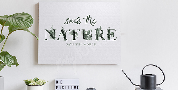 Nature motif canvas print
