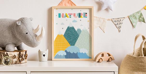 Nature poster for children