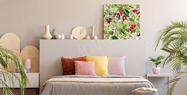 Nature with mistletoe canvas print