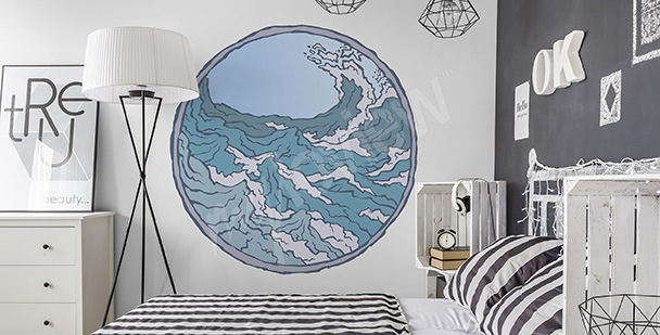 Nautical bedroom sticker