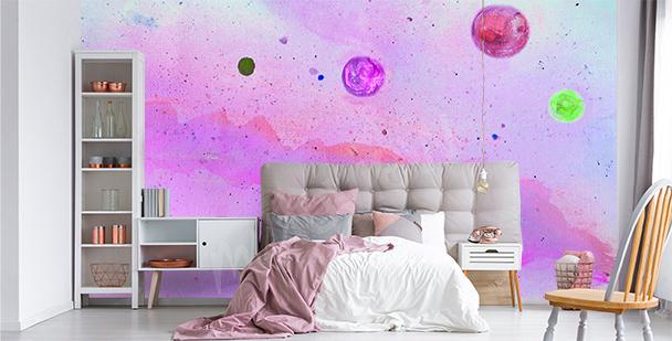 Neon galaxy mural