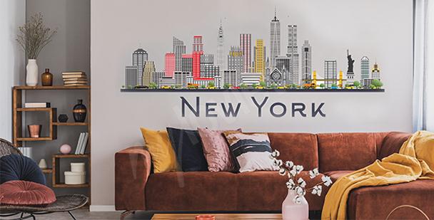 New York sticker for the living room