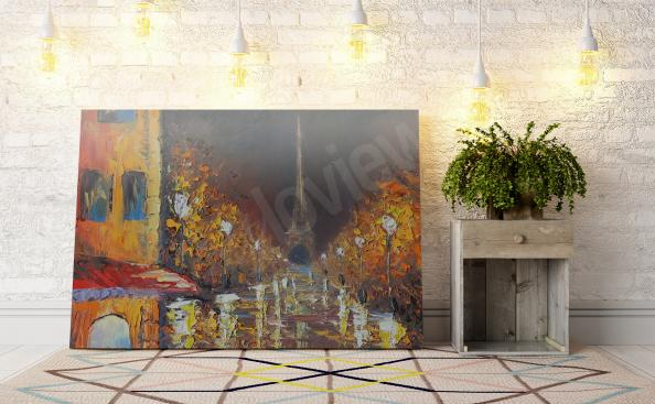 Night in Paris canvas print