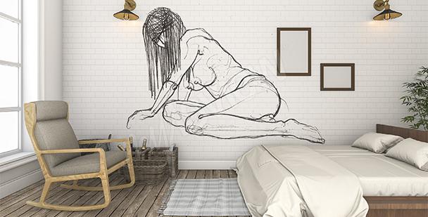 Nude mural for bedroom