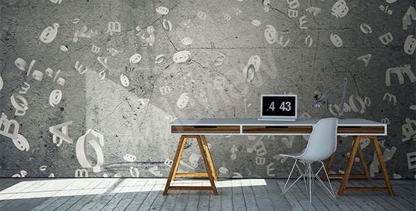 Office mural concrete