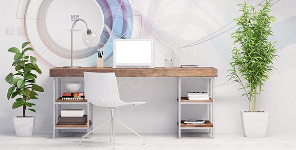 Office mural minimalism
