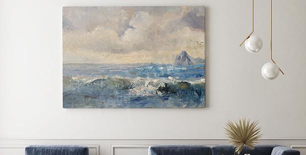 Oil landscape canvas print