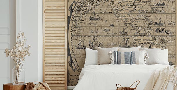 Old map wall mural