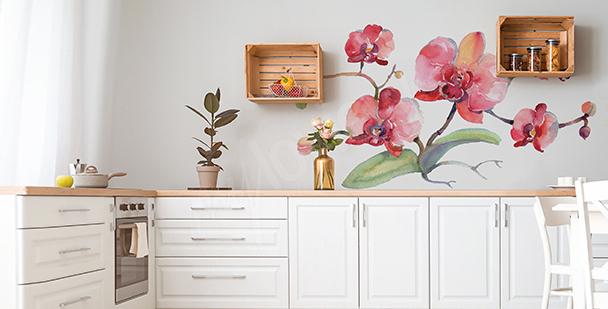 Orchid kitchen sticker