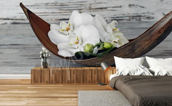 Orchid wall mural for bedroom