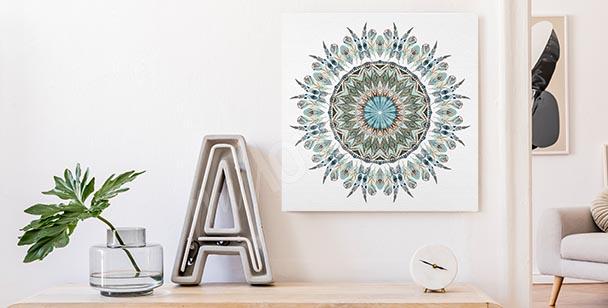Ornament and mandala canvas print