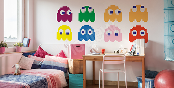 Pac-Man sticker set
