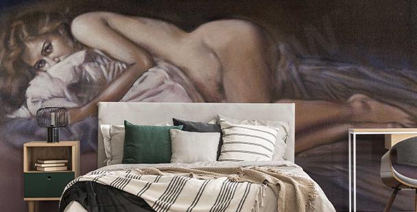 Painted erotic wall mural