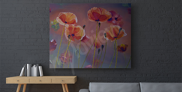Painting of poppies canvas print