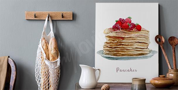 Pancakes food canvas print