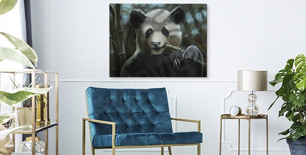 Panda image canvas print