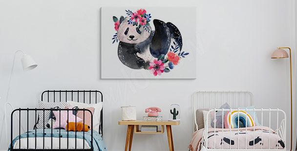 Panda in nature canvas print
