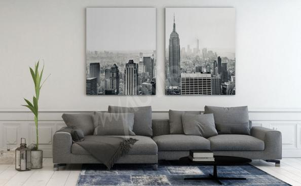 Panorama canvas print of New York