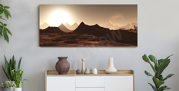 Panoramic canvas print for the hallway