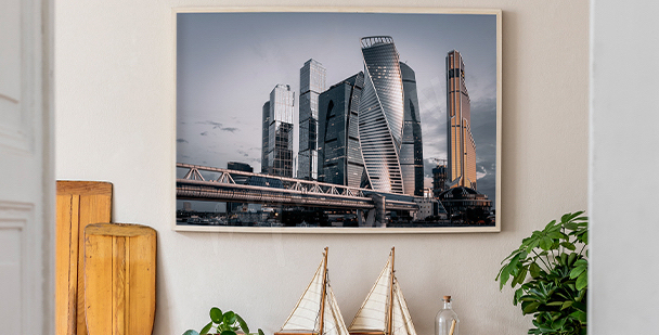 Panoramic city poster