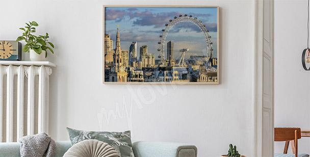 Panoramic London poster