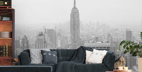 Panoramic New York mural