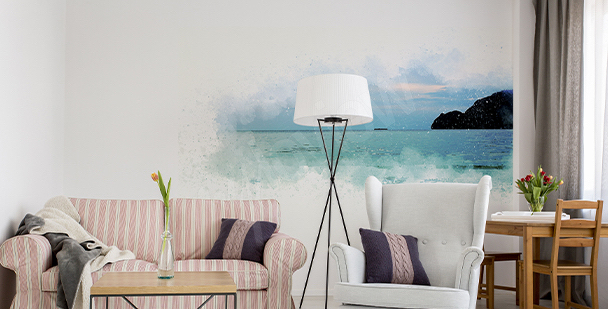Panoramic sea sticker