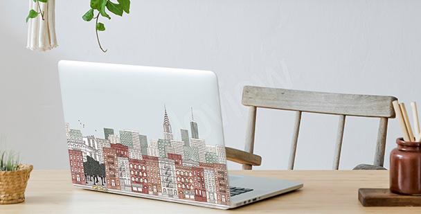 Panoramic view laptop sticker