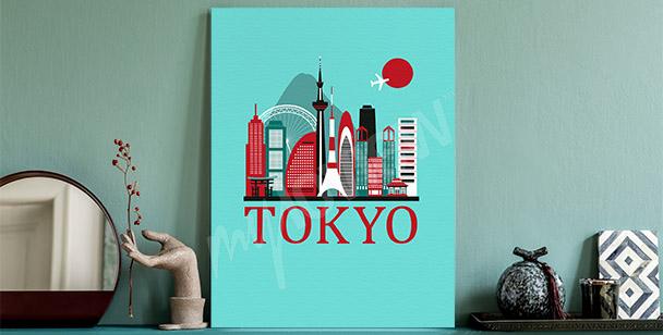 Panoramic view of Tokyo canvas print